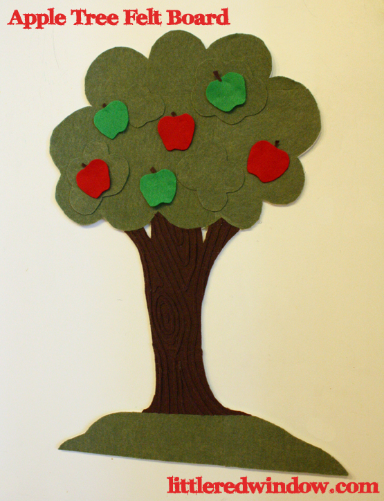 Apple Felt Board - Little Red Window