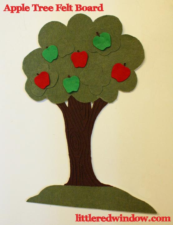 Apple Felt Board - Little Red Window