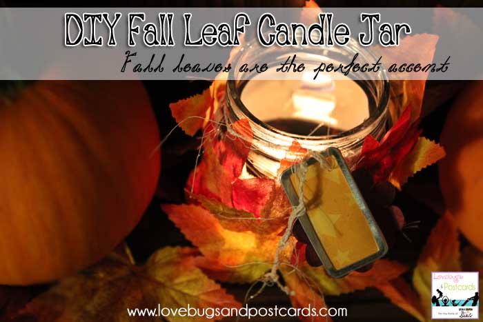 Fall Leaf Votive Holders - Lovebugs & Postcards