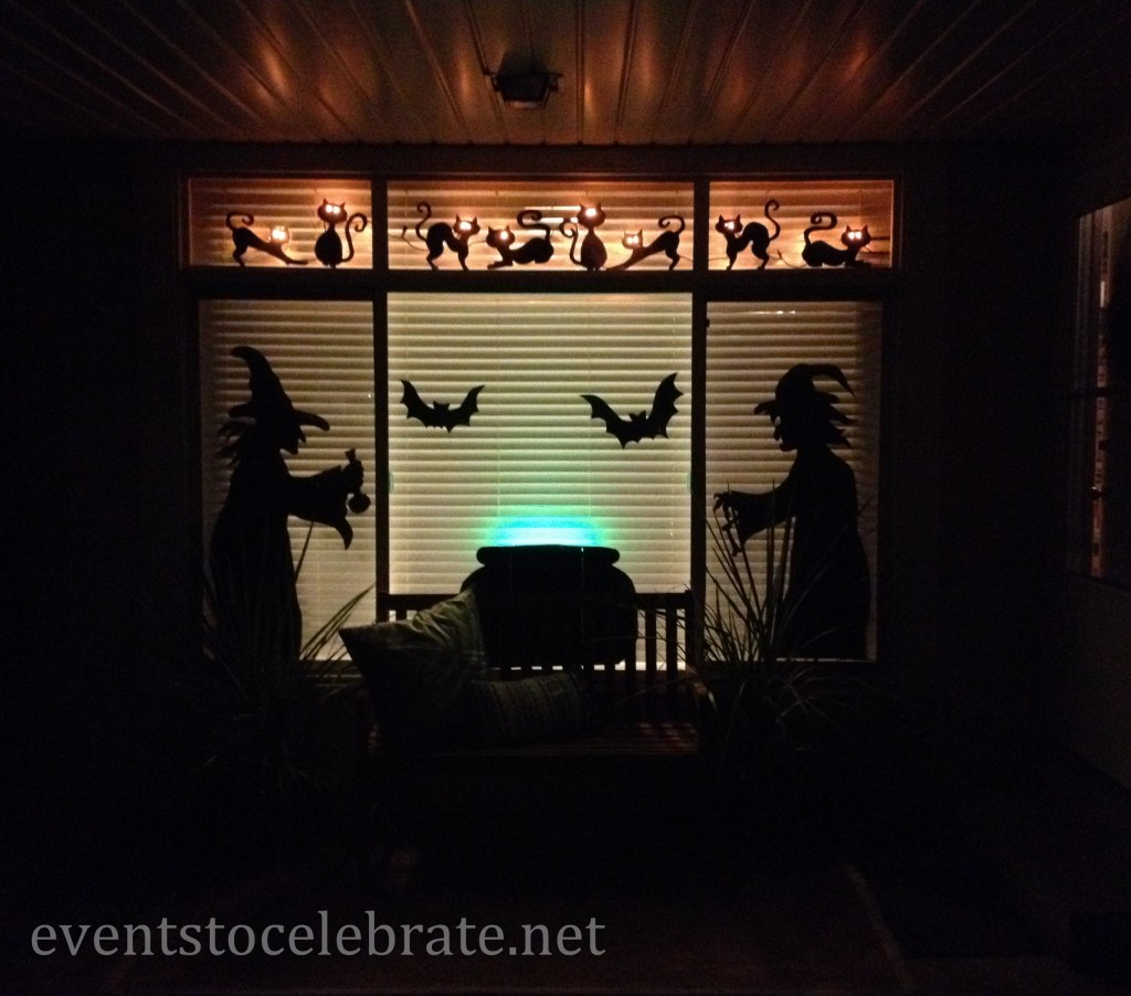 Halloween Witches & Cats Window Decoration