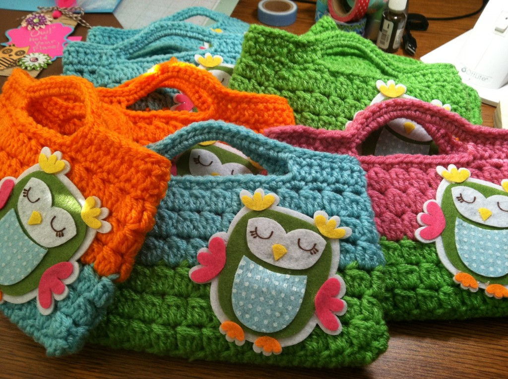 Night Owl Slumber Party Crochet Bags Favor