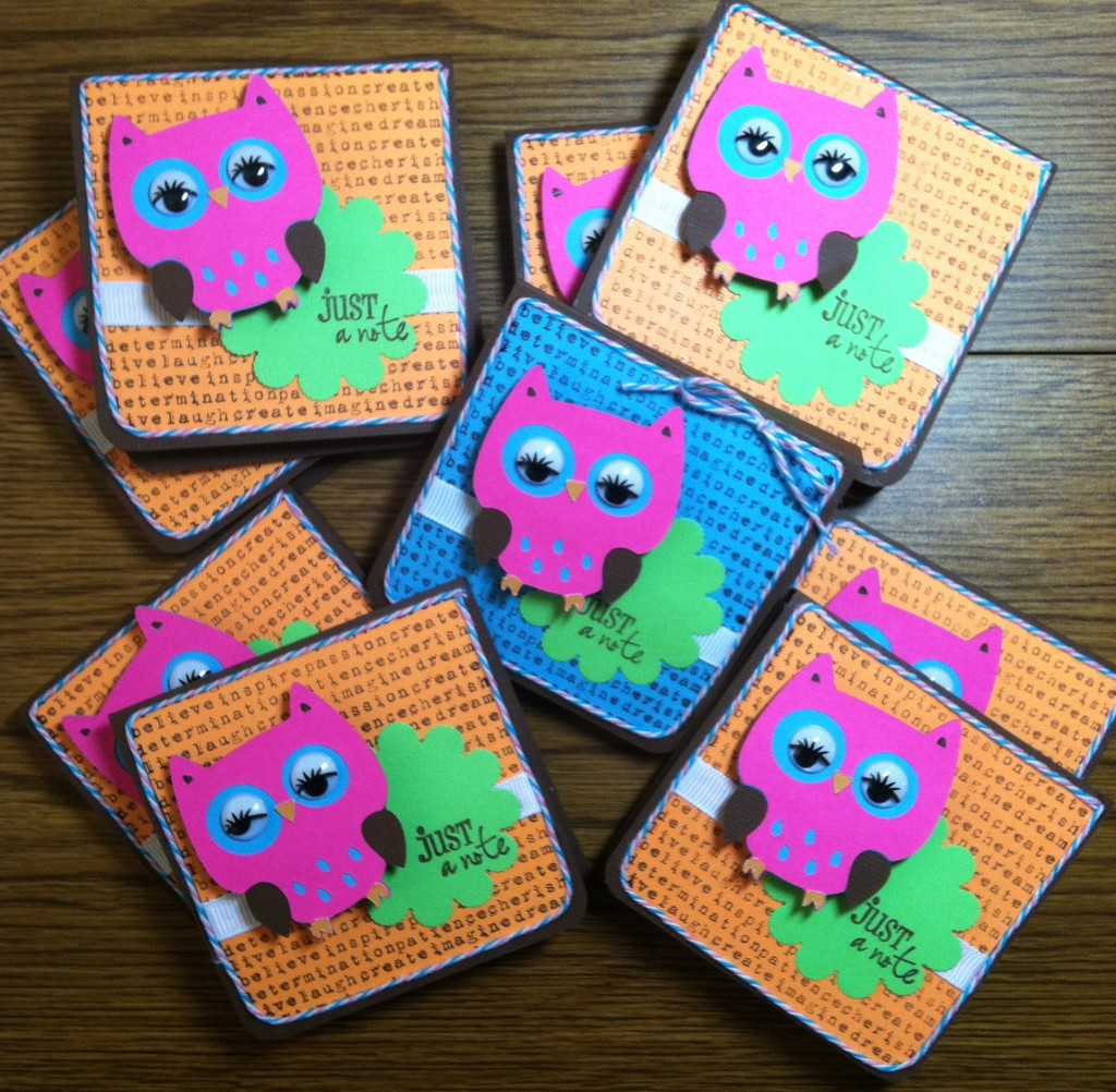 Night Owl Slumber Party Favors - Owl Post It Notes