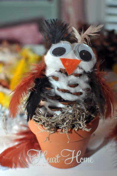 Pinecone Owl - All things heart and home