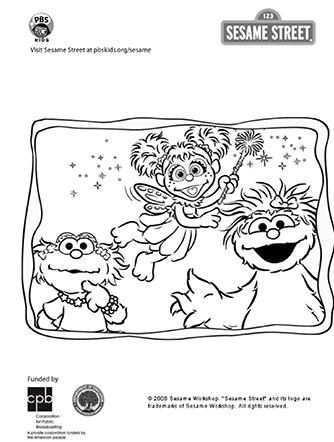 Sesame Street Coloring Page