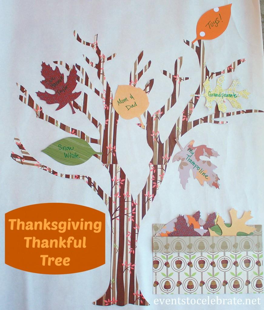 Thanksgiving Craft - DIY Thankful Tree