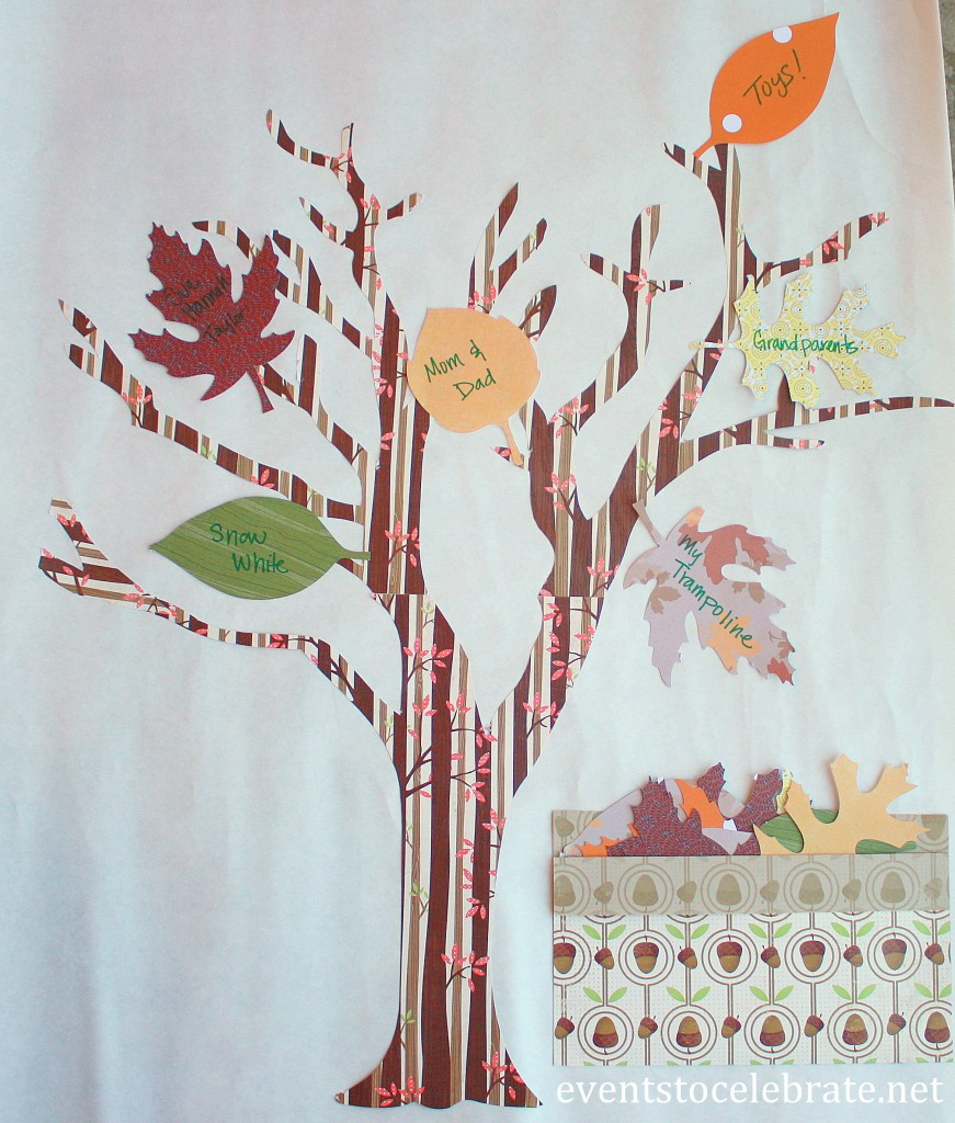 Thanksgiving Craft - Thankful Tree