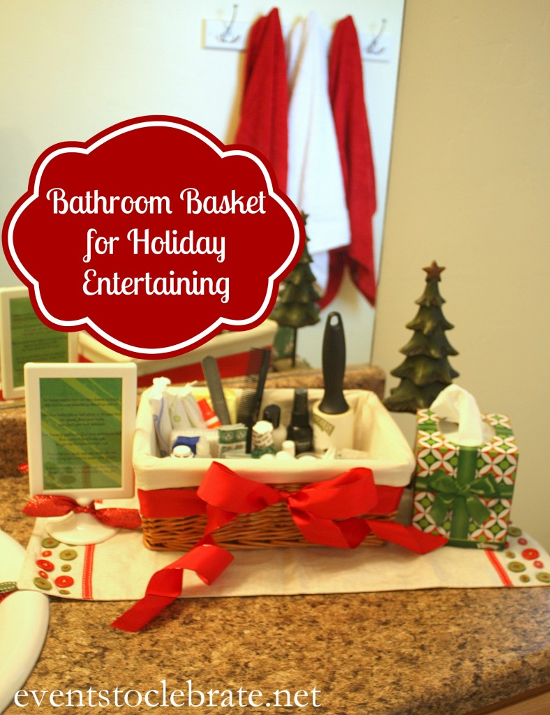 Bathroom Basket for Holiday Entertaining - Events To Celebrate - #CottonelleHoliday #pmedia #ad