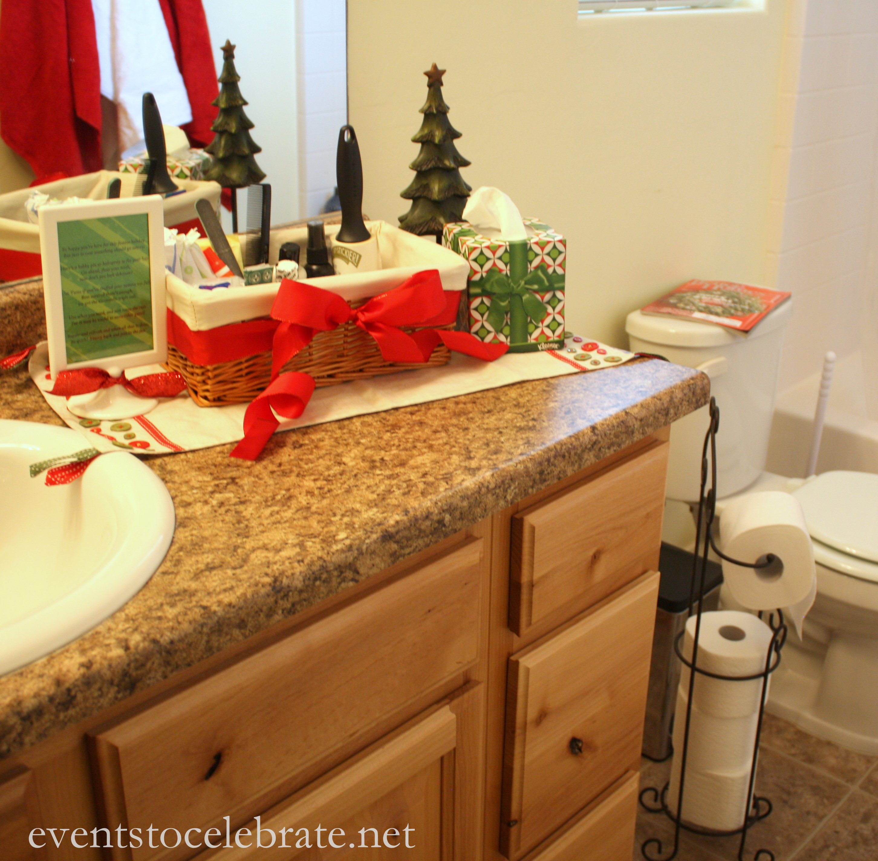 Bathroom Basket - Holiday Entertaining -