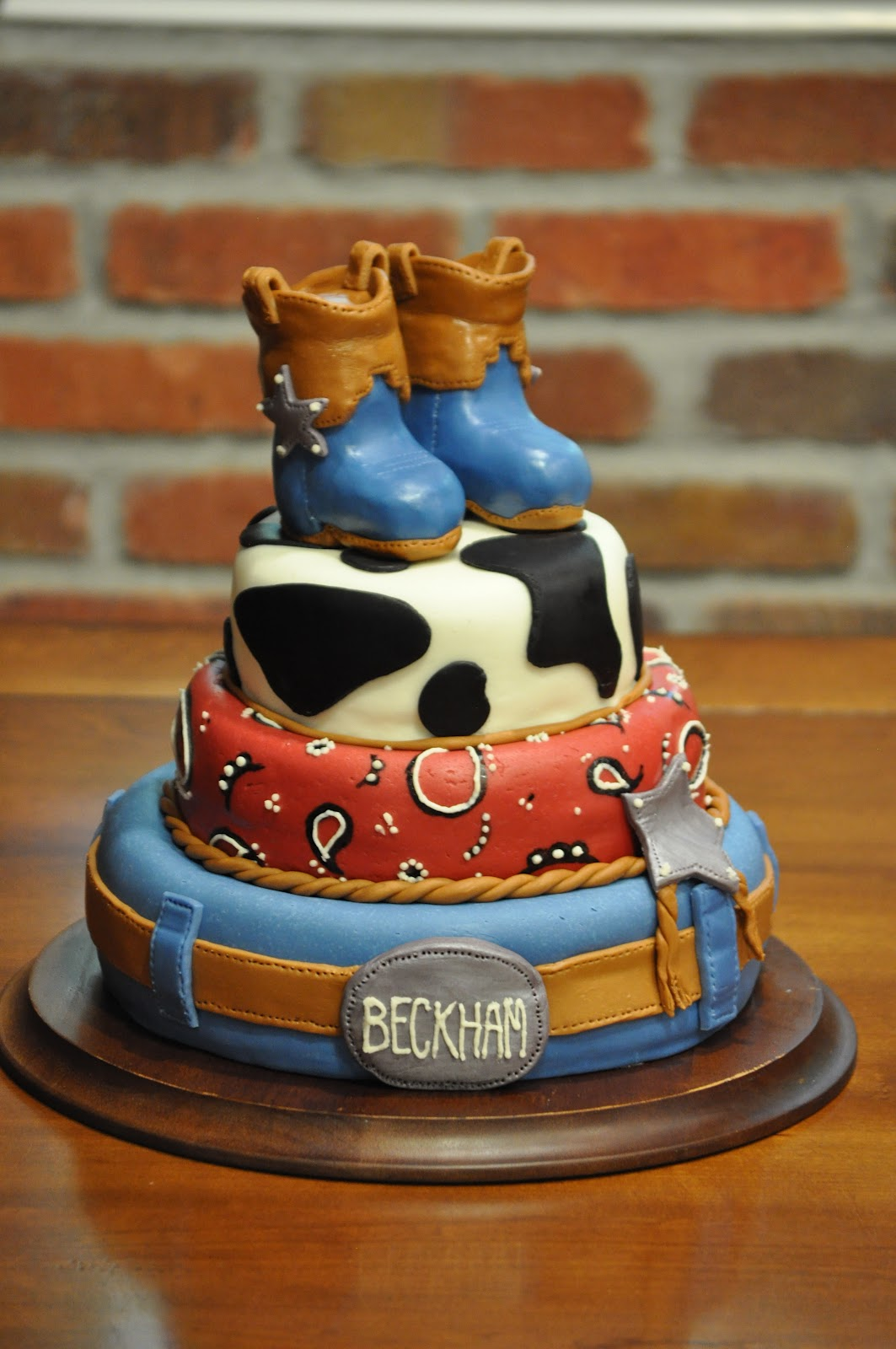 Cowboy Boots Cake Decorations
