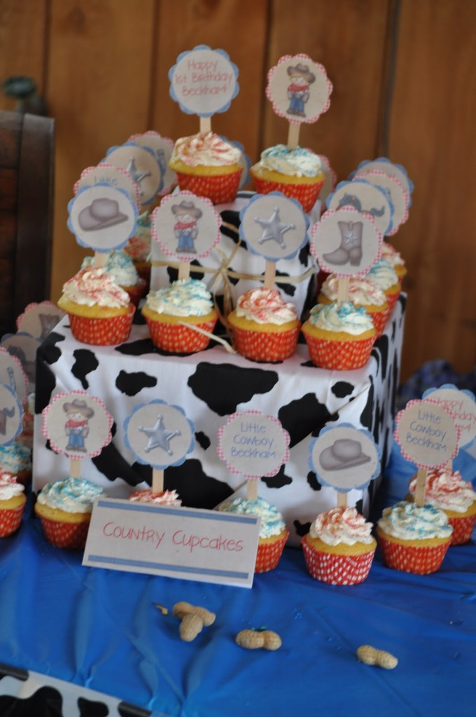 Cowboy Birthday Party Cupcakes
