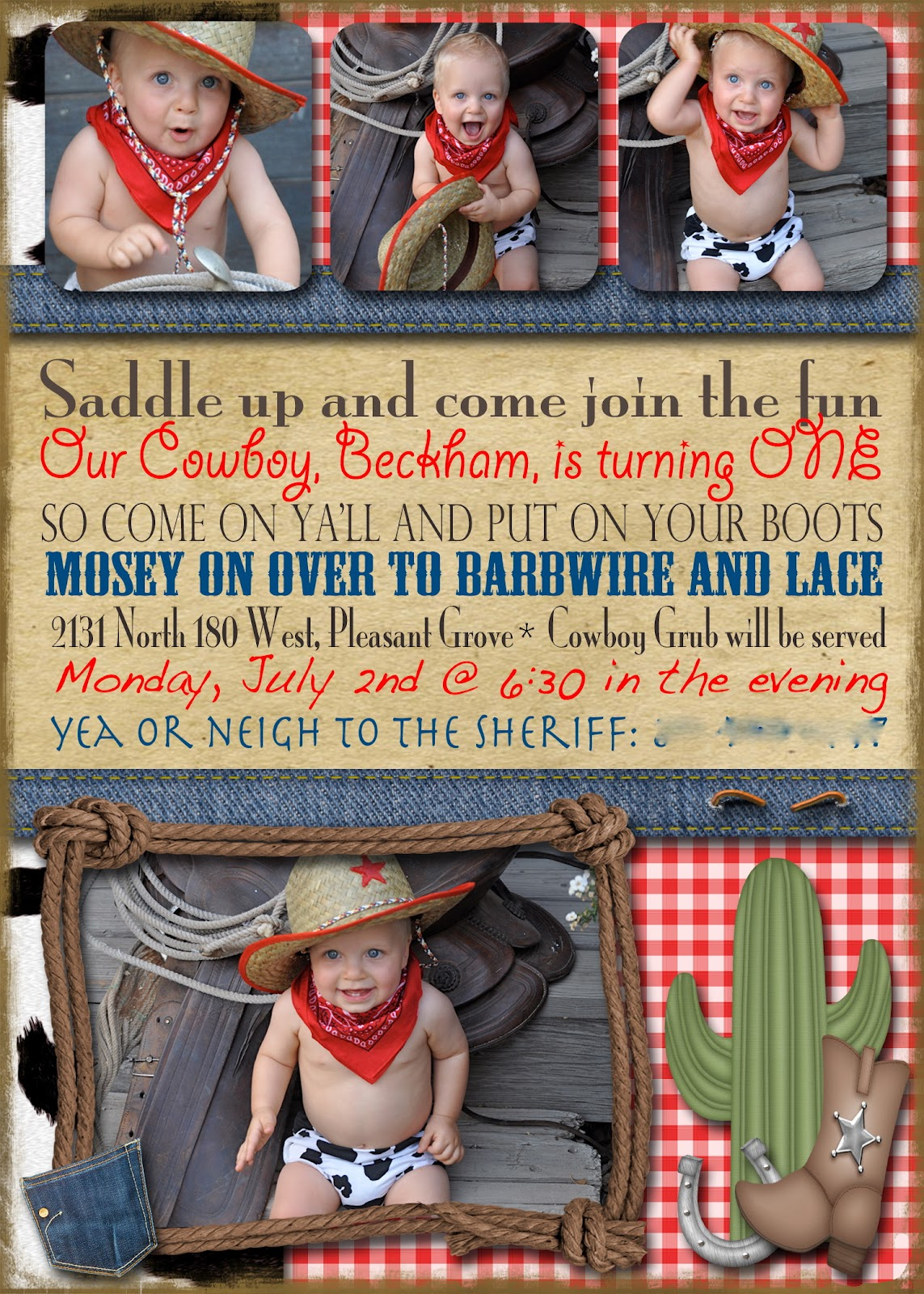 Cowboy Birthday Party Ideas events to CELEBRATE – Cowboy Party Invitation Wording