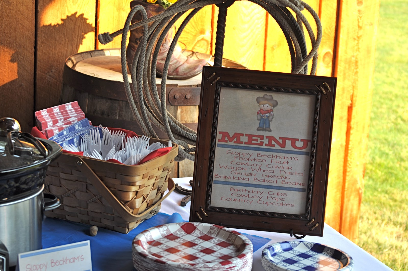 Western Theme Party Decorating Ideas Part - 43: Cowboy Birthday Party Menu ...