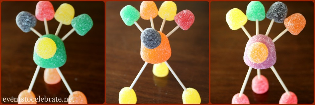 Gumdrop Turkeys - Thanksgiving Craft for Kids