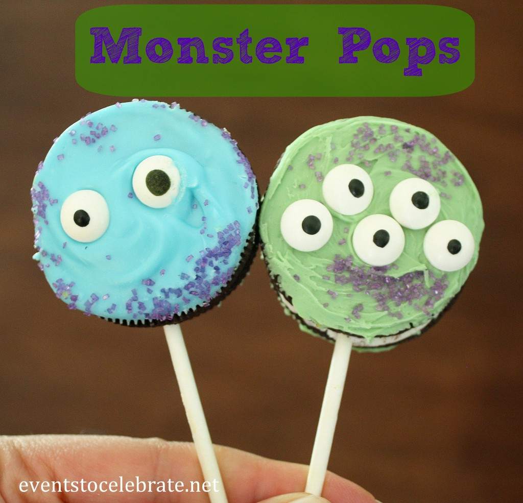 Monsters University Party - Oreo Monster Pops
