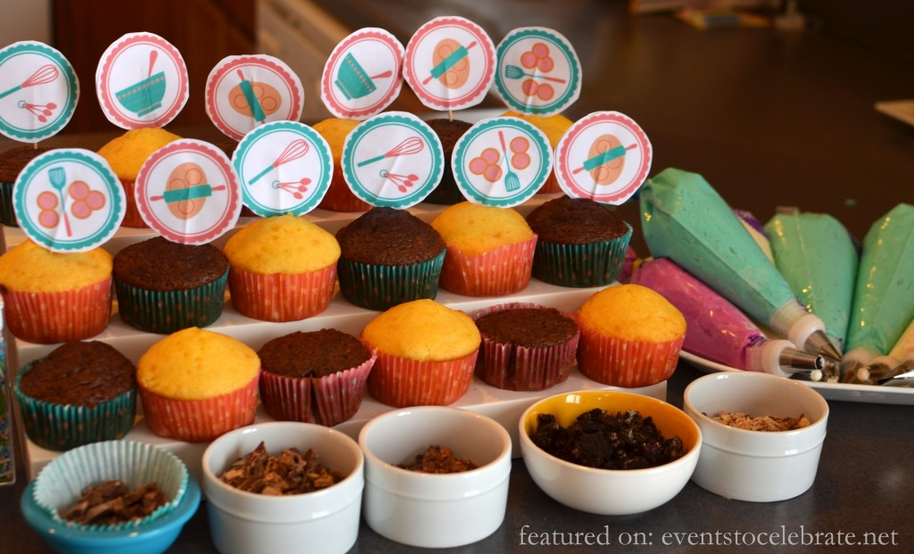 Baking  Birthday Party - Cupcake Decorating - events to CELEBRATE!