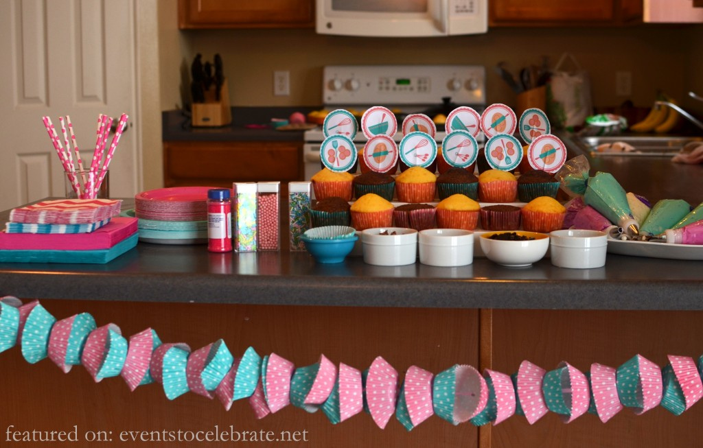 Baking  Birthday Party - Decorating Cupcakes - events to CELEBRATE!