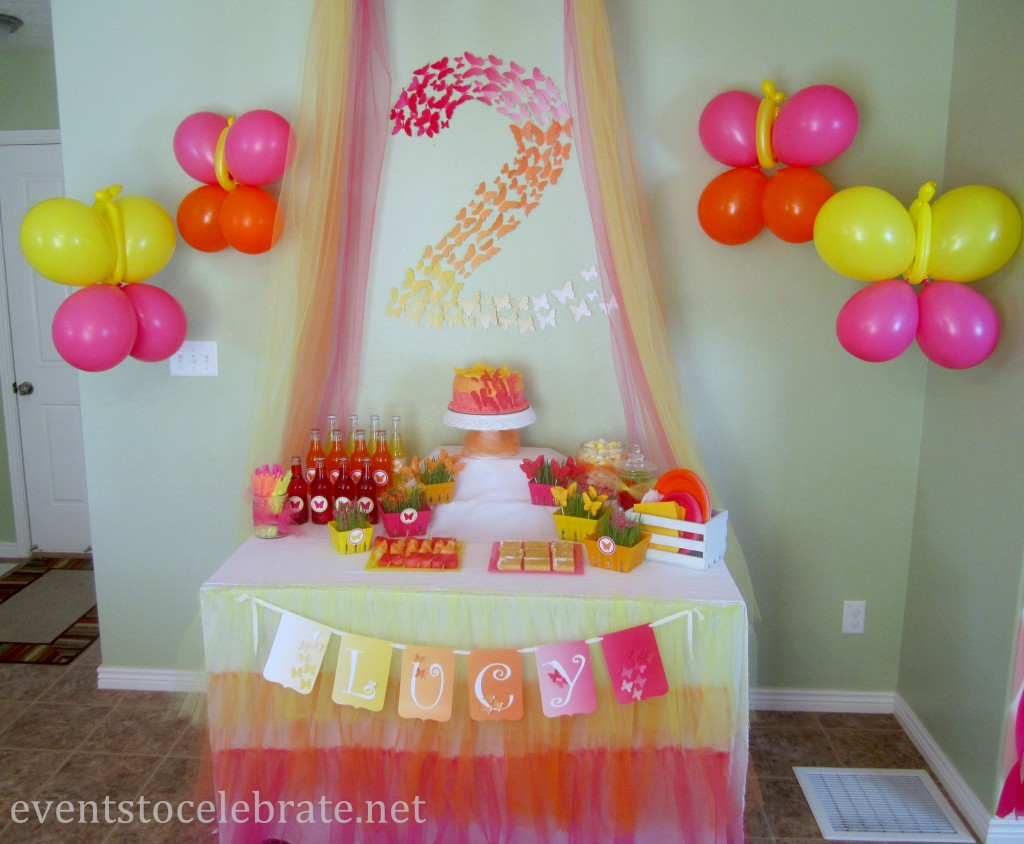 Butterfly Theme Birthday Party - events to CELEBRATE!