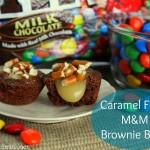 Caramel Filled M&M Brownie Bites #BakingIdeas #shop