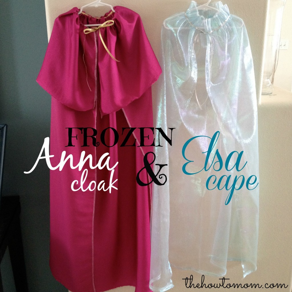 FROZEN Anna and Elsa CloakCape DIY