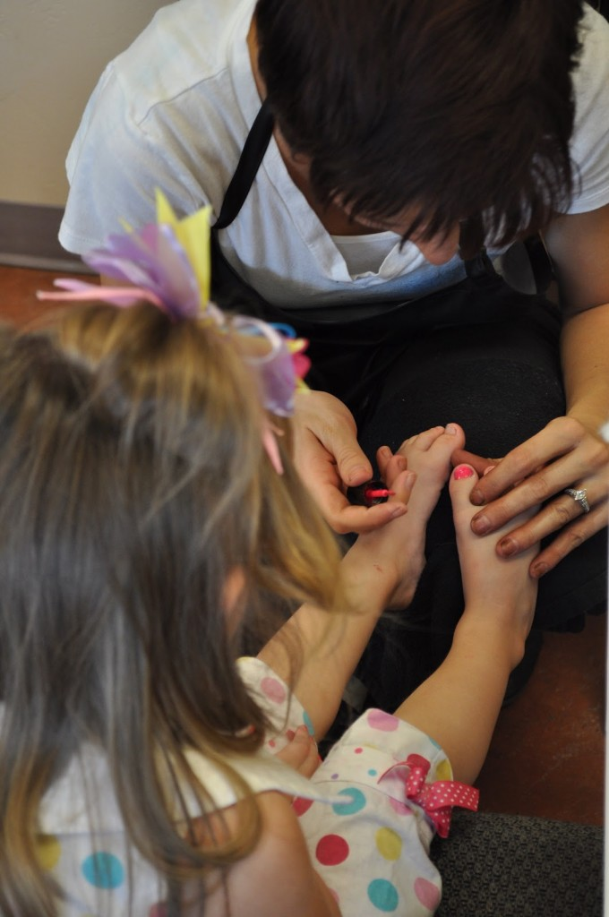 Princess Birthday Party - Fingernail painting
