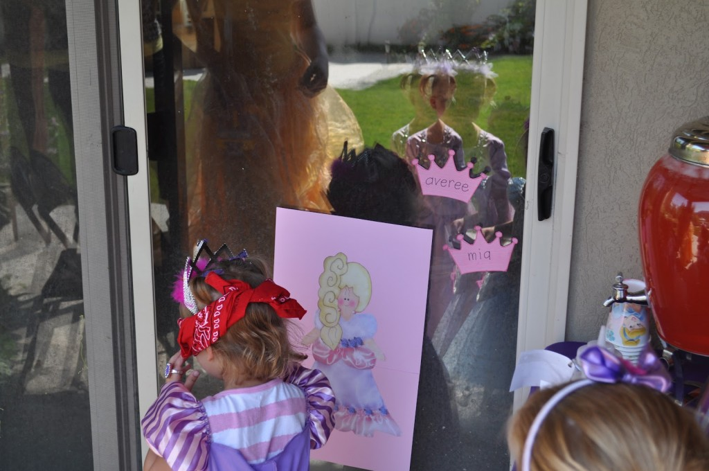 Princess Birthday Party Pin the Crown on the Princess