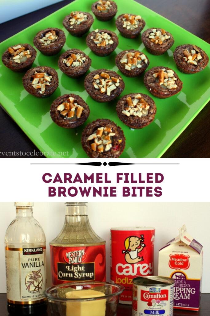 caramel brownie bites
