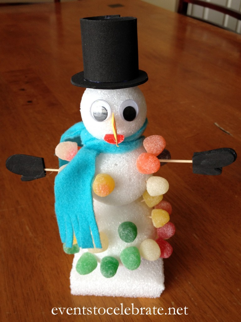 Olaf Snowman Craft - Disney's Frozen Birthday Party Ideas