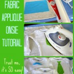 Fabric Applique Onesie Tutorial - events to CELEBRATE!