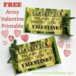 Free Printable Valentine - ARMY - events to CELEBRATE!