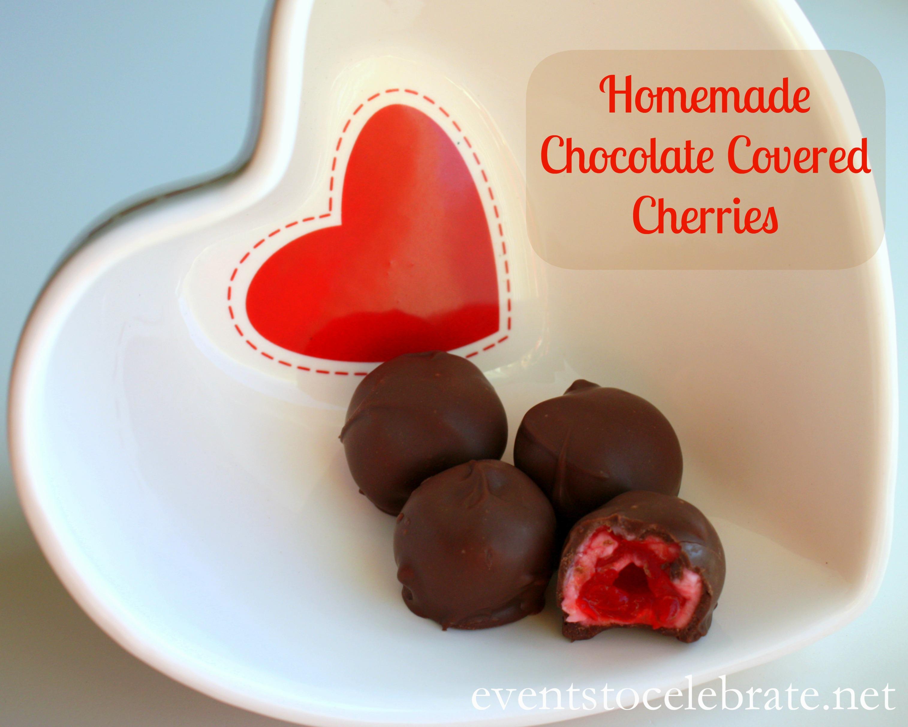 Homemade Chocolate Covered Cherries -