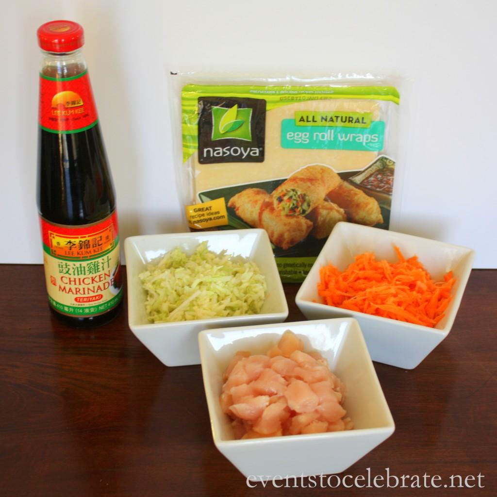 Easy Teriyaki Chicken Egg Rolls - events to CELEBRATE!