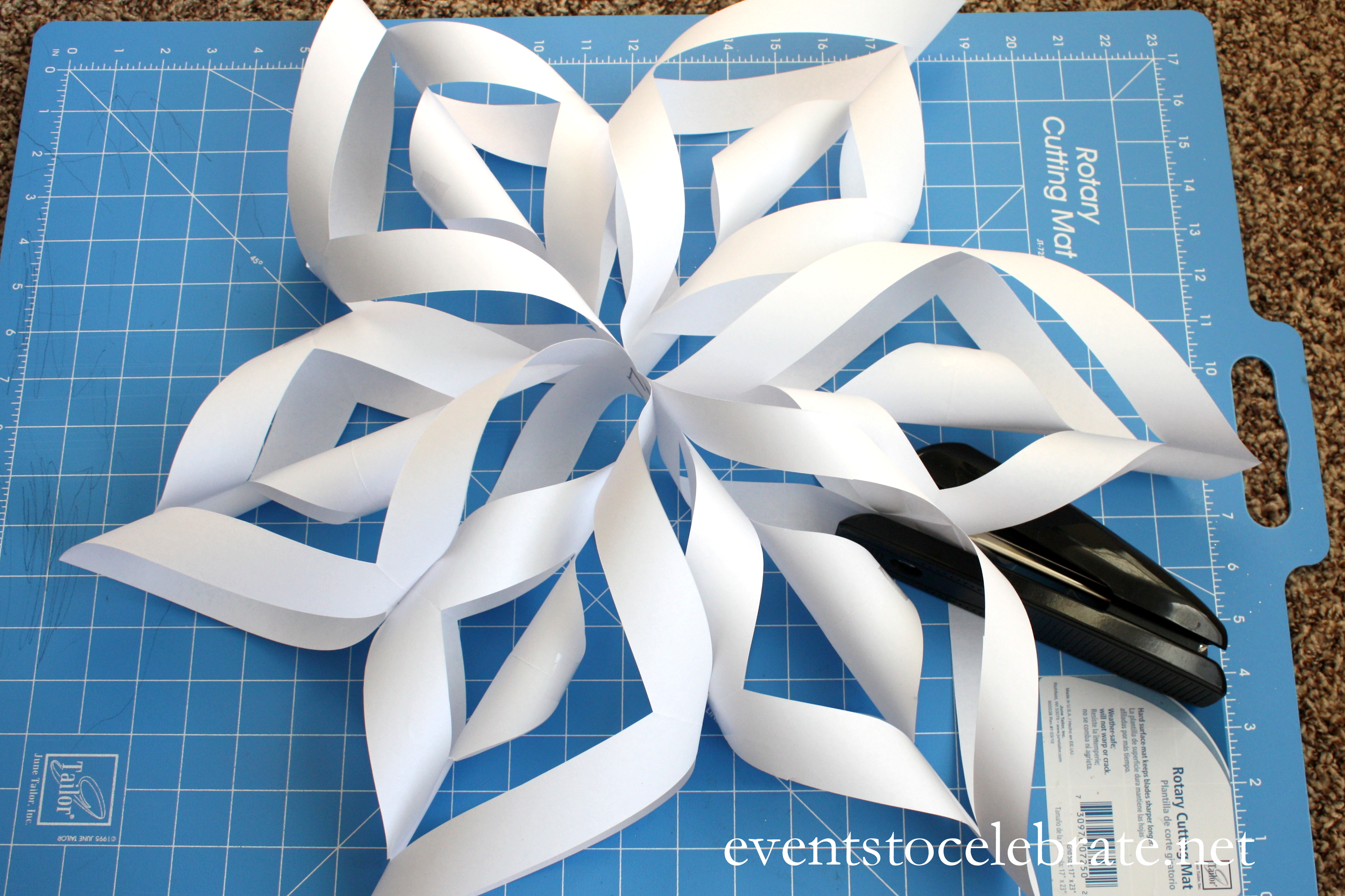 3D Paper Snowflake Tutorial - events to CELEBRATE! - events
