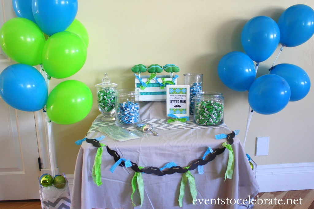 Little Man Mustache Baby Shower - events to CELEBRATE!