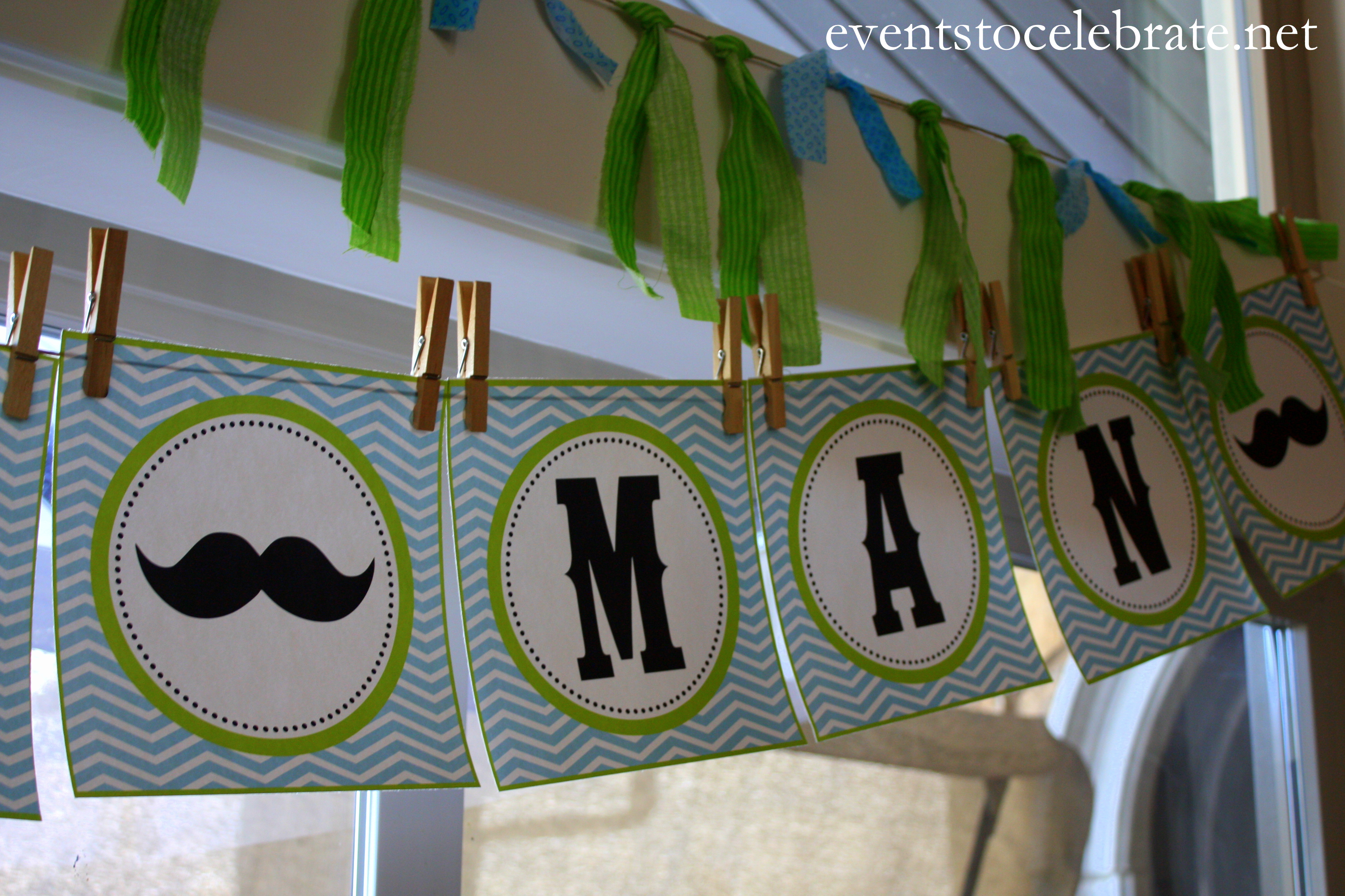 little man mustache baby shower events to celebrate