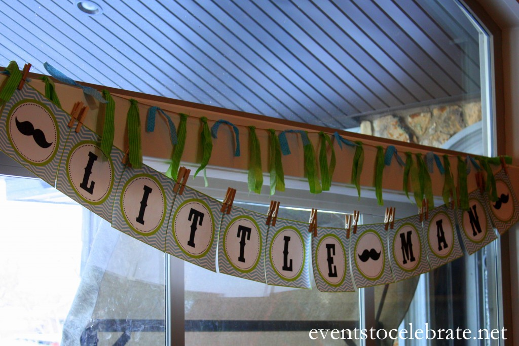 Little Man Mustache Baby Shower Decorations - events to CELEBRATE!