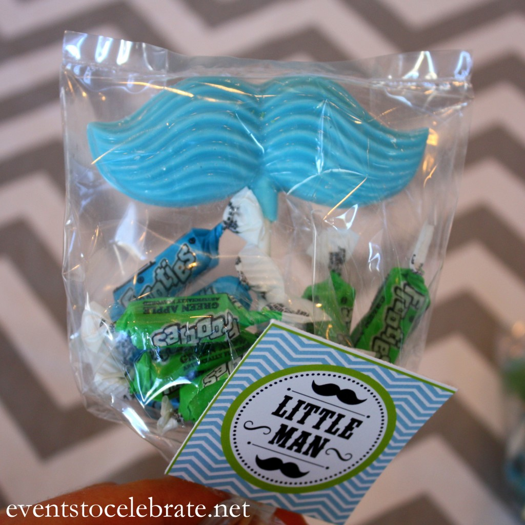 Little Man Mustache Baby Shower Favors- events to CELEBRATE!