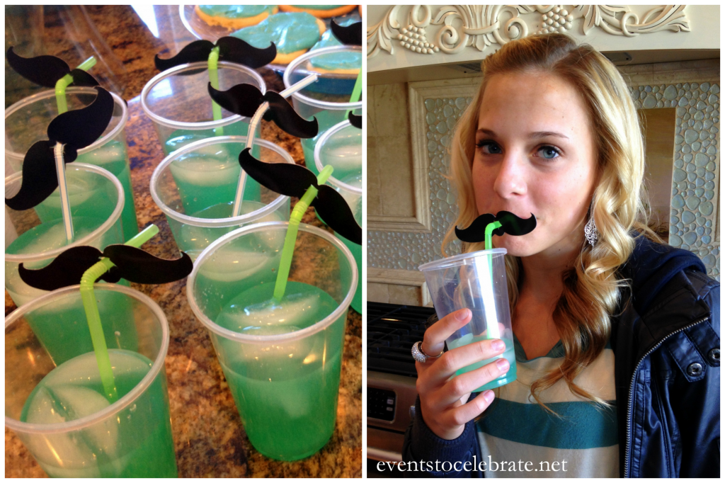 Little Man Mustache Baby Shower Drinks - events to CELEBRATE!