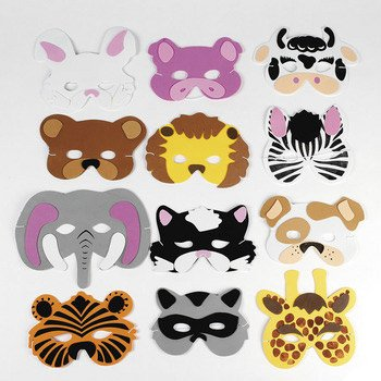 Animal Foam face masks