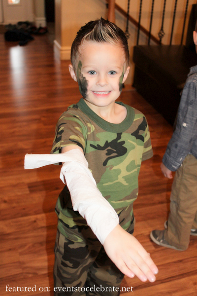 Army Birthday Party Activities - Dress the wound