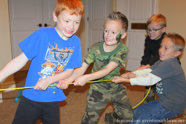 Army Birthday Party Activities - Tug-o-war