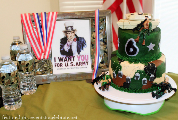 Army Birthday Party Cake