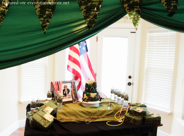Army birthday party ideas archives events to celebrate for Army decoration ideas