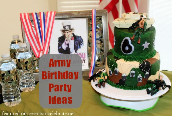 Army Birthday Party Ideas - Events To Celebrate
