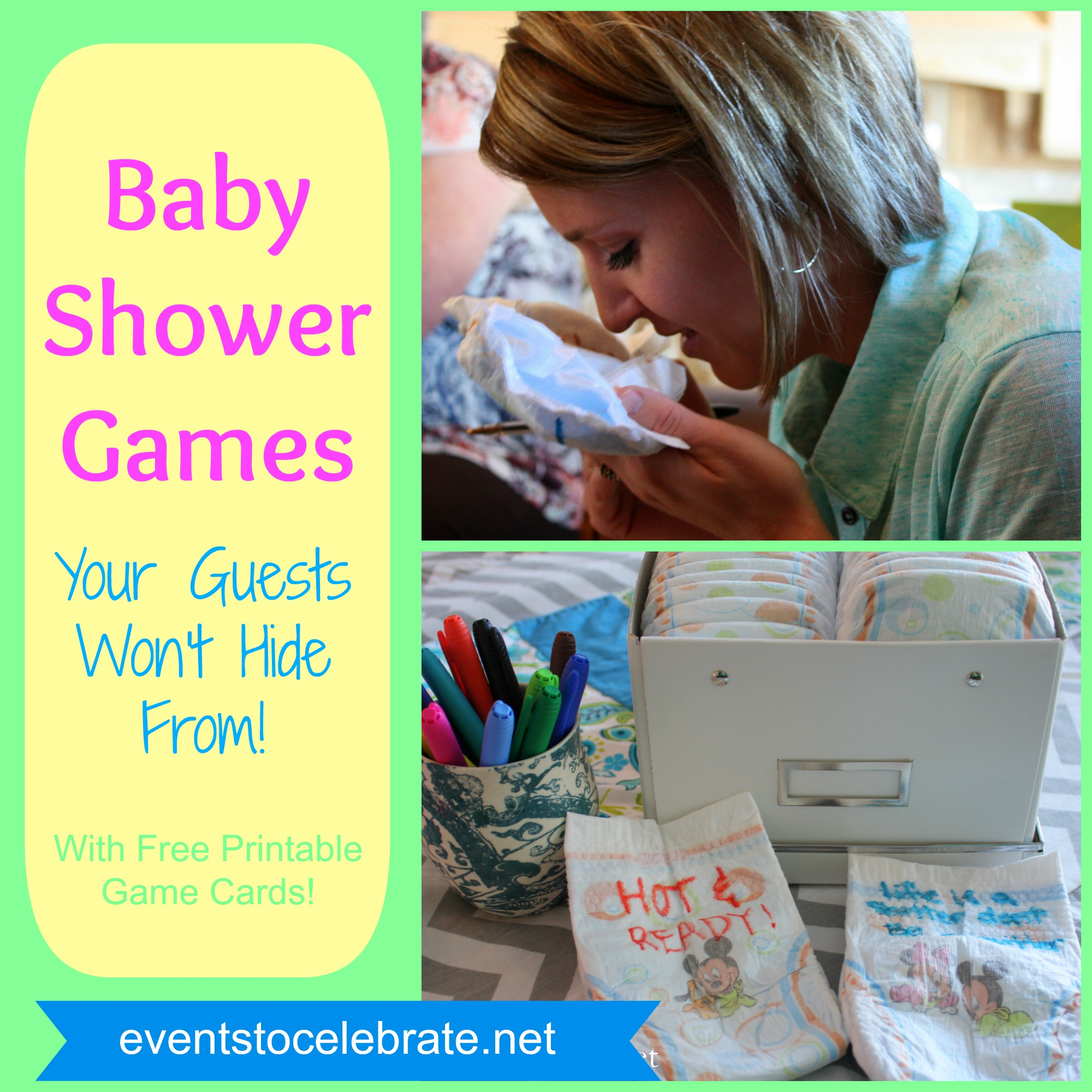 baby shower games events to celebrate
