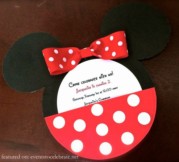 Minnie Mouse Birthday Party Invitations Invitation