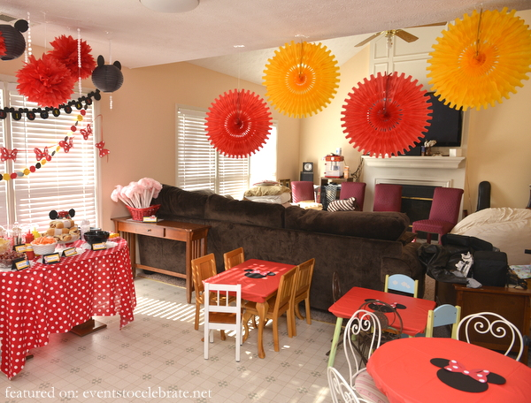 Red Minnie Mouse Room Decorations