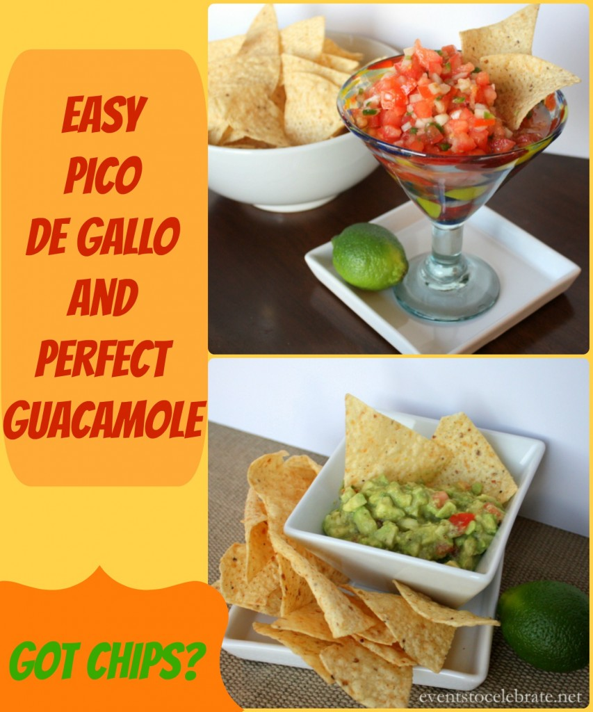 Pico De Gallo and Guacamole Recipe - Events To Celebrate