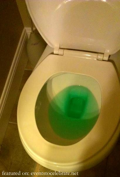 St Patricks Day Tricks - Green Toilet Water
