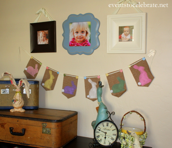 Easter Burlap Banner - Events to Celebrate