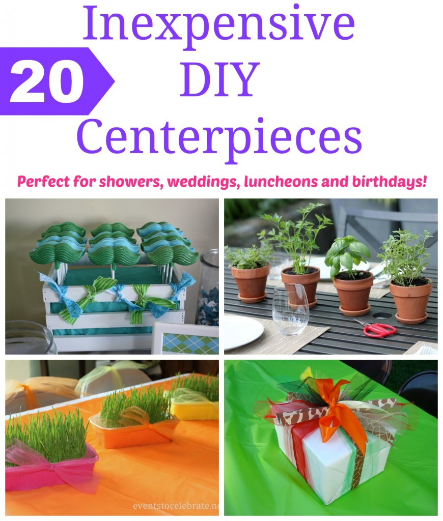Inexpensive DIY Centerpieces - Events To Celebrate